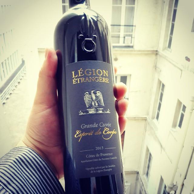 Какое-то сильно крутое вино для офицеров Французского легиона. Подарено белорусом, отслужившем в нем