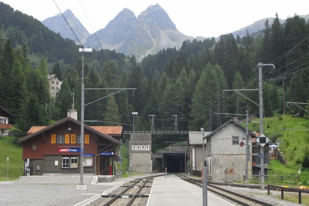 Портал тоннеля Альбула