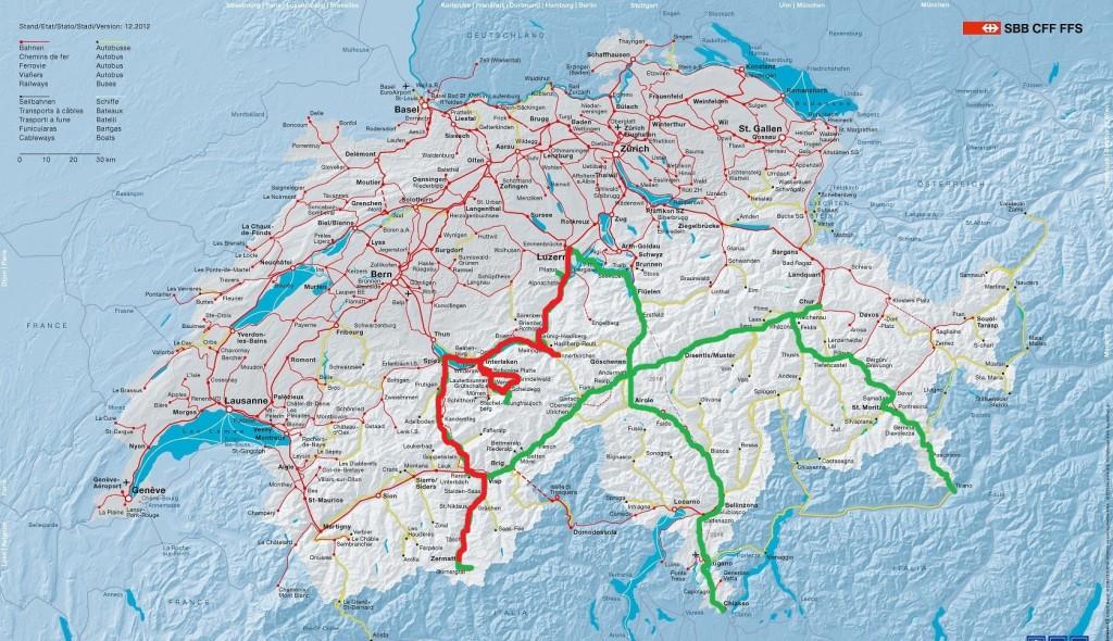 Карта путешествия четвертого дня. Нажмите для увеличения