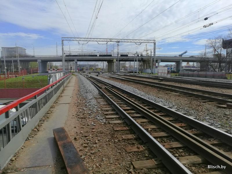 Впервые в жизни прошел по Западному мосту, старейшему железнодорожному мосту Минска